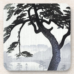 Vintage Japanese Tree Coaster