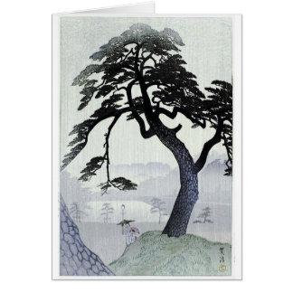 Vintage Japanese Tree Greeting Card
