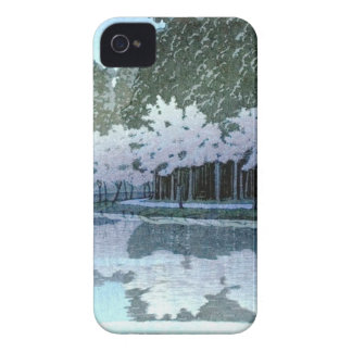 Vintage Japanese Trees on Water Woodblock Art iPhone 4 Case