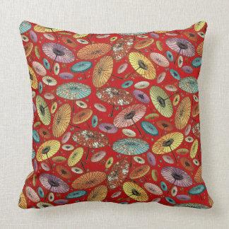 Vintage Japanese Umbrella Pattern Cushion