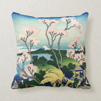 Vintage Japanese View of Mt. Fuji Cushions