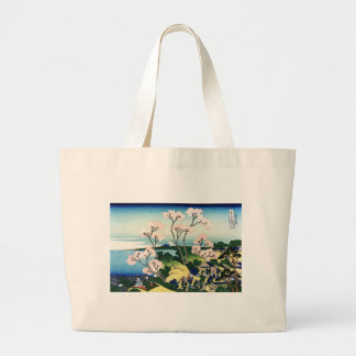 Vintage Japanese View of Mt. Fuji Jumbo Tote Bag