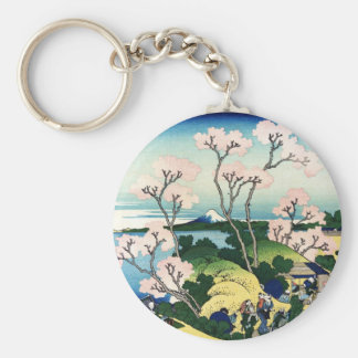 Vintage Japanese View of Mt. Fuji Key Chains