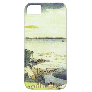 Vintage Japanese Village by the Sea Woodblock Art iPhone 5 Cover
