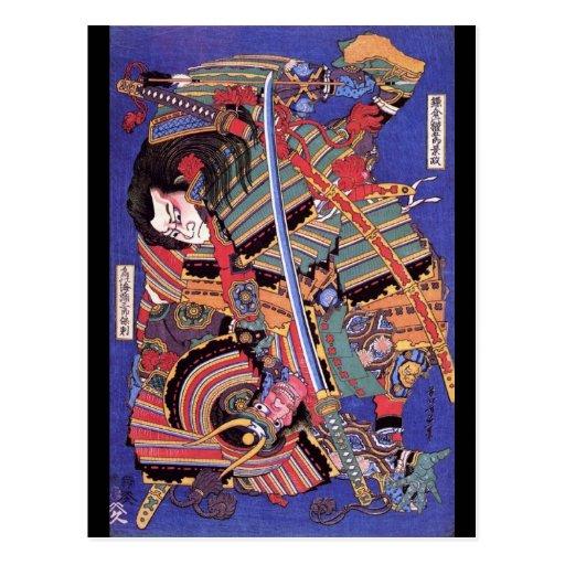 Vintage Japanese Warrior Art Postcards