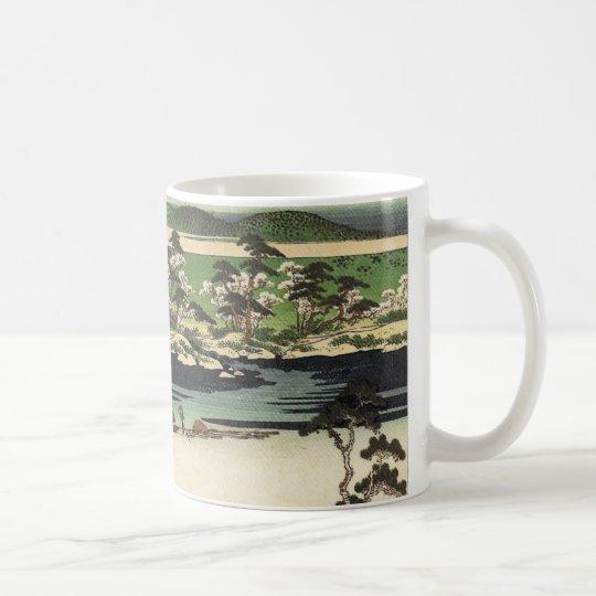 Vintage Japanese Watercolor Landscape Print Mug