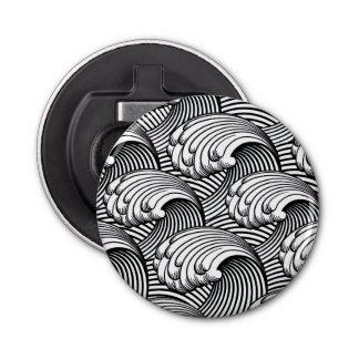 Vintage Japanese Waves, Black and White Bottle Opener