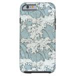 vintage japanese waves pattern tough iPhone 6 case