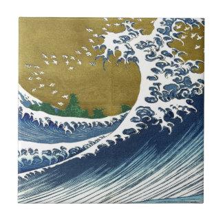 Vintage Japanese Waves Tile