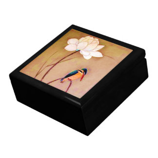 Vintage Japanese White Lotus Flower Gift Box