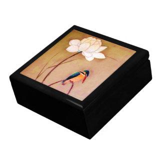 Vintage Japanese White Lotus Flower Gift Box