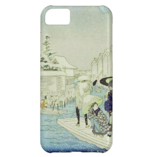 Vintage Japanese Winter on Water Woodblock Art Cover For iPhone 5C