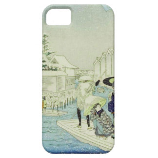 Vintage Japanese Winter on Water Woodblock Art iPhone 5 Cases