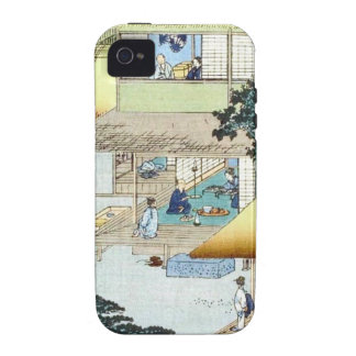 Vintage Japanese Winter Woodblock Art Ukiyo-e Vibe iPhone 4 Cover