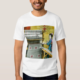 Vintage Japanese Woman Using a Silk Weave Mill T-shirts