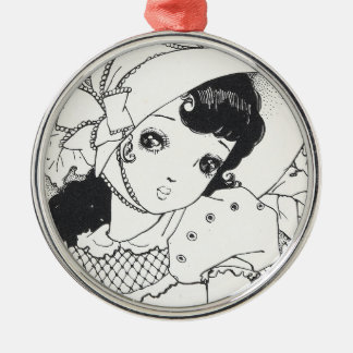 Vintage japaneses manga kawaii girl ink tattoo christmas ornaments