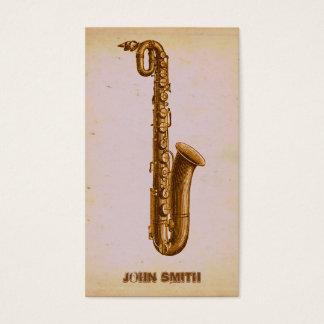 Vintage Jazz Sax Music Business Business Card