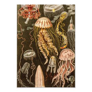 Vintage Jellyfish Antique Jelly Fish Illustration 9 Cm X 13 Cm Invitation Card