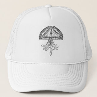 Vintage Jellyfish Antique Jellyfishes Template Trucker Hat