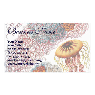 Vintage Jellyfish, Discomedusae by Ernst Haeckel Business Card Templates