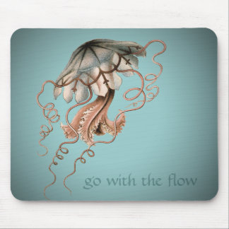 Vintage Jellyfish Mouse Mat