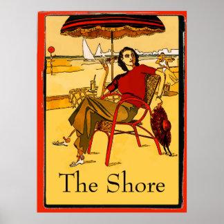 Vintage Jersey Shore, edit text Poster