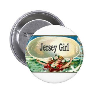 Vintage Jersey Shore Jersey Girl 6 Cm Round Badge
