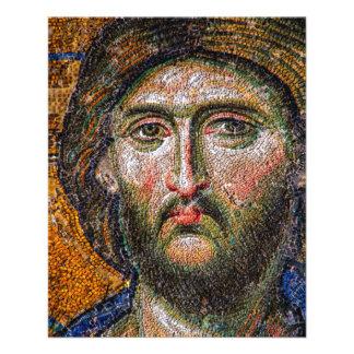 Vintage Jesus Christ Portrait Medieval Mosaic 11.5 Cm X 14 Cm Flyer