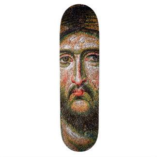 Vintage Jesus Christ Portrait Medieval Mosaic Skateboard Decks
