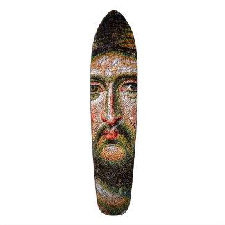 Vintage Jesus Christ Portrait Medieval Mosaic Skate Board Decks