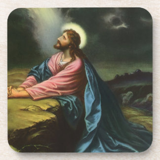 Vintage Jesus Christ Praying in Gethsemane Coaster