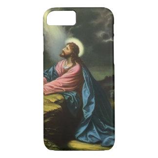 Vintage Jesus Christ Praying in Gethsemane iPhone 8/7 Case