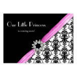 Vintage Jewel Buckle Black White Damask Ribbon Pack Of Chubby Business Cards