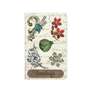 Vintage Jewels Personalized Name Monogram Journal