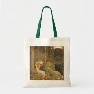 Vintage John Bauer Fantasy Fairy Tale Art Tote Bags