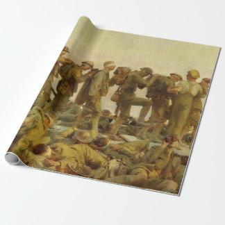 Vintage John Singer Sargent World War I Gassed Wrapping Paper