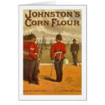 Vintage Johnston's Corn Flower Ad Greeting Cards
