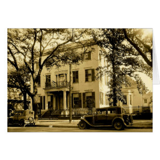 Vintage Jonathan Emanuel Mansion, Mobile Alabama Card