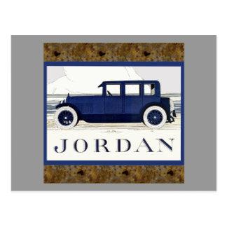 Vintage Jordan Car by the Sea Postcard