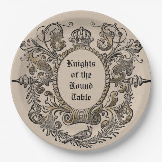 Vintage Jousting Knights Paper Plates Personalized