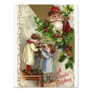 Vintage *Joyful Christmas* 11 Cm X 14 Cm Invitation Card