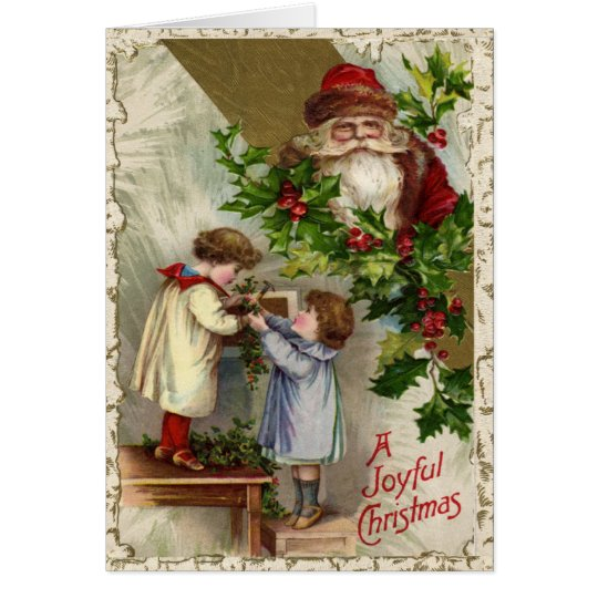 Vintage Joyful Christmas Card