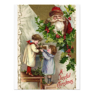 Vintage Joyful Christmas Announcement