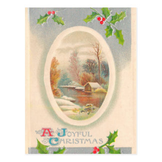 Vintage Joyful Christmas Postcard