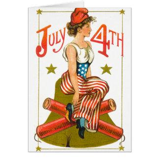 Vintage July 4th Greeting Card