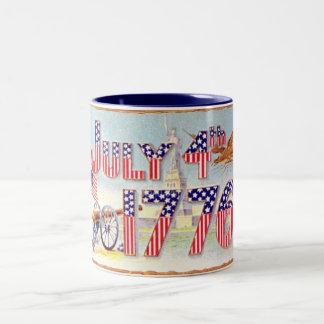 Vintage July 4TH Two-Tone Mug