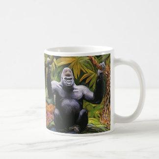 Vintage Jungle Primate, Silverback Lowland Gorilla Coffee Mug