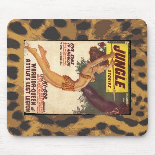 Vintage Jungle Pulp Cover Mousepads