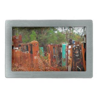 Vintage Junk Yard Gas Pumps Rectangular Belt Buckles
