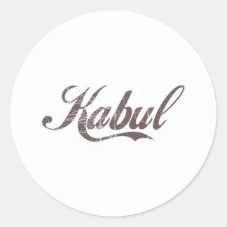 Vintage Kabul Round Sticker